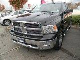 2010 Brilliant Black Crystal Pearl Dodge Ram 1500 Big Horn Quad Cab 4x4 #56481263