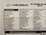 2011 Chevrolet Silverado 1500 LTZ Extended Cab 4x4 Window Sticker