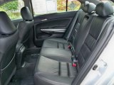 2009 Honda Accord EX-L V6 Sedan EX-L Rear seat in black leather