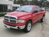 2005 Flame Red Dodge Ram 1500 SLT Quad Cab #56514043