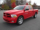 2012 Flame Red Dodge Ram 1500 Express Quad Cab 4x4 #56514239