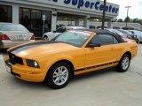 2007 Grabber Orange Ford Mustang V6 Deluxe Convertible #56514001