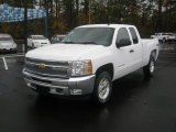 2012 Summit White Chevrolet Silverado 1500 LT Extended Cab 4x4 #56514215