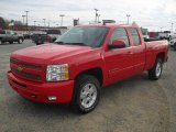2011 Victory Red Chevrolet Silverado 1500 LT Extended Cab 4x4 #56514207