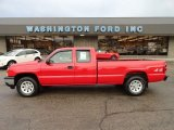2006 Victory Red Chevrolet Silverado 1500 Work Truck Extended Cab 4x4 #56513978