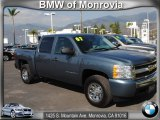 2007 Blue Granite Metallic Chevrolet Silverado 1500 LS Crew Cab #56513900