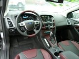 2012 Ford Focus Titanium 5-Door Tuscany Red Leather Interior