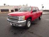 2012 Victory Red Chevrolet Silverado 1500 LT Crew Cab 4x4 #56564275