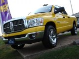 2008 Detonator Yellow Dodge Ram 1500 Big Horn Edition Quad Cab 4x4 #56563956
