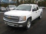 2012 White Diamond Tricoat Chevrolet Silverado 1500 LT Crew Cab 4x4 #56564394