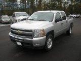 2011 Sheer Silver Metallic Chevrolet Silverado 1500 LT Crew Cab 4x4 #56564389