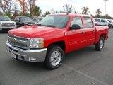 2012 Victory Red Chevrolet Silverado 1500 LT Crew Cab 4x4 #56564384