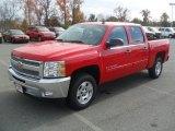 2012 Victory Red Chevrolet Silverado 1500 LT Crew Cab #56564379