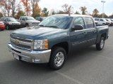 2012 Blue Granite Metallic Chevrolet Silverado 1500 LT Crew Cab #56564377