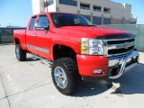 2007 Victory Red Chevrolet Silverado 1500 LT Extended Cab 4x4 #56564126