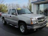 2005 Silver Birch Metallic Chevrolet Silverado 1500 Z71 Extended Cab 4x4 #56610774