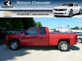 2008 Victory Red Chevrolet Silverado 1500 LT Extended Cab 4x4 #56610697