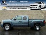 2011 Blue Granite Metallic Chevrolet Silverado 1500 LT Extended Cab 4x4 #56610669