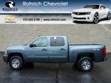 2011 Blue Granite Metallic Chevrolet Silverado 1500 LS Crew Cab 4x4 #56610666