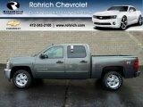 2011 Steel Green Metallic Chevrolet Silverado 1500 LT Crew Cab 4x4 #56610663