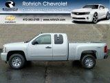 2011 Sheer Silver Metallic Chevrolet Silverado 1500 LS Extended Cab 4x4 #56610662