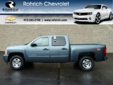 2011 Blue Granite Metallic Chevrolet Silverado 1500 LT Crew Cab 4x4 #56610659