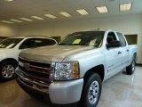 2011 Sheer Silver Metallic Chevrolet Silverado 1500 LS Crew Cab 4x4 #56610656