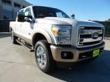 2012 Ford F250 Super Duty White Platinum Metallic Tri-Coat