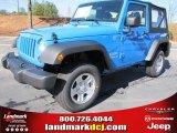 2012 Cosmos Blue Jeep Wrangler Sport 4x4 #56609722