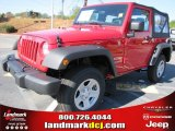 2012 Flame Red Jeep Wrangler Sport 4x4 #56609720