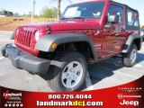 2012 Deep Cherry Red Crystal Pearl Jeep Wrangler Sport 4x4 #56609718
