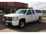 2008 Summit White Chevrolet Silverado 1500 LS Extended Cab 4x4 #56610534
