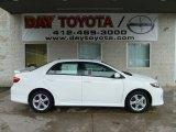 2011 Super White Toyota Corolla S #56609587