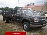 2003 Dark Green Metallic Chevrolet Silverado 3500 Regular Cab Chassis Stake Truck #56610407