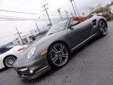 2012 Meteor Grey Metallic Porsche 911 Turbo Cabriolet #56609521