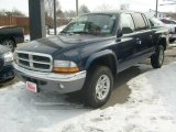 2004 Patriot Blue Pearl Dodge Dakota SLT Quad Cab 4x4 #5661976