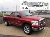 2007 Inferno Red Crystal Pearl Dodge Ram 1500 Big Horn Edition Quad Cab 4x4 #56609960