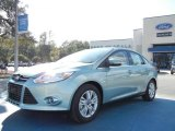 2012 Frosted Glass Metallic Ford Focus SEL Sedan #56704835