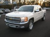2012 White Diamond Tricoat Chevrolet Silverado 1500 LT Crew Cab 4x4 #56705294