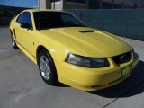 2001 Zinc Yellow Metallic Ford Mustang V6 Coupe #56704961