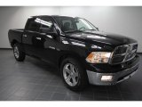 2010 Brilliant Black Crystal Pearl Dodge Ram 1500 Lone Star Crew Cab #56705175