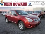 2012 Cayenne Red Nissan Rogue S AWD #56760984