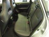 2012 Subaru Impreza WRX STi Limited 4 Door STi rear seats in carbon black leather
