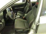 2012 Subaru Impreza WRX STi Limited 4 Door STi drivers seat in carbon black leather