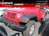 2011 Flame Red Jeep Wrangler Sport S 4x4 #56789322