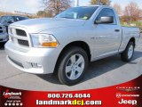 2012 Bright Silver Metallic Dodge Ram 1500 Express Regular Cab #56789314