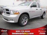 2012 Bright Silver Metallic Dodge Ram 1500 Express Quad Cab #56789313