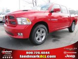 2012 Flame Red Dodge Ram 1500 Sport Crew Cab #56789311