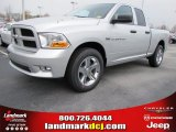 2012 Bright Silver Metallic Dodge Ram 1500 Express Quad Cab #56789310