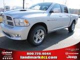 2012 Bright Silver Metallic Dodge Ram 1500 Sport Crew Cab #56789305